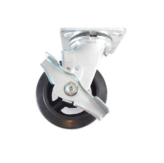 """LINCO Locking Mold on Rubber Swivel Caster 4"""" (400 LBS Cap)"""