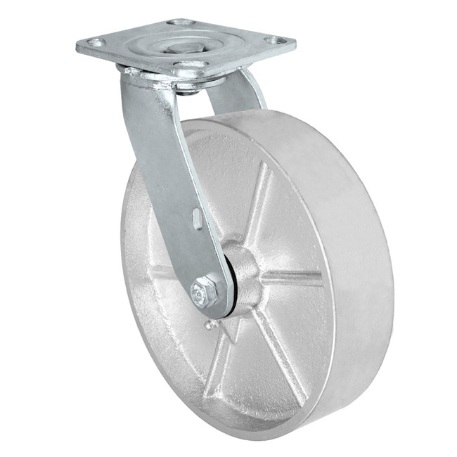 "8"" SWIVEL CASTER - CAST IRON WHEEL - 1000LBS CAPACITY"