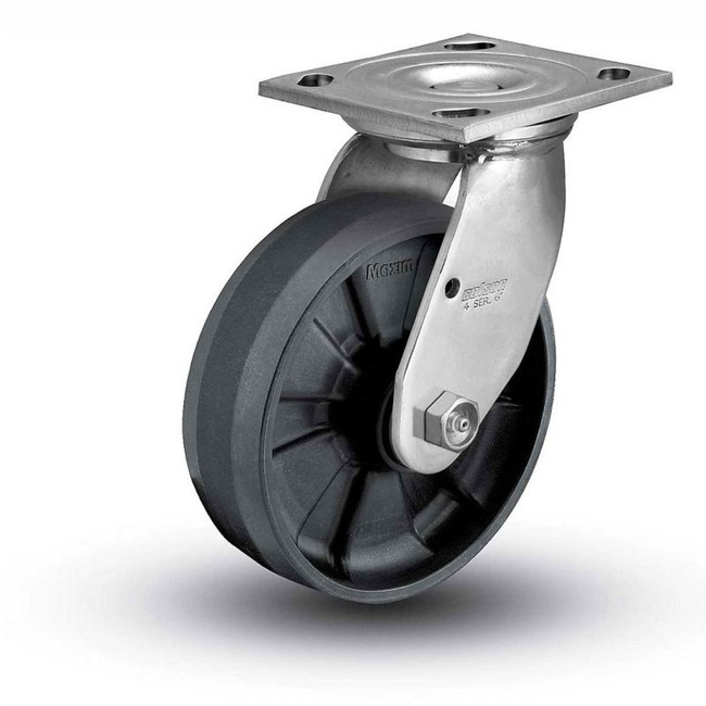 "8"" GLASS FILLED NYLON SWIVEL CASTER 1000LBS CAPACITY"