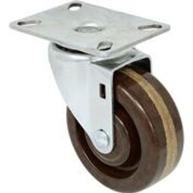 """LINCO High Temp Phenolic Swivel Caster with Top Plate 4"""""""