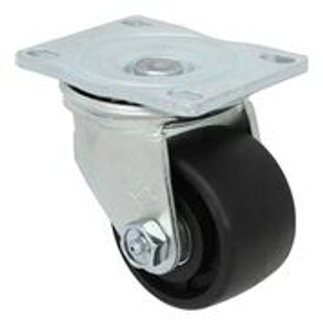3'' x 1 3/4'' swivel caster w/ nylon glass filled wheel w/ roller bearing w/ 2 3/8'' x 3 5/8'' top plate w/ thumb screw brake 500lbs cap