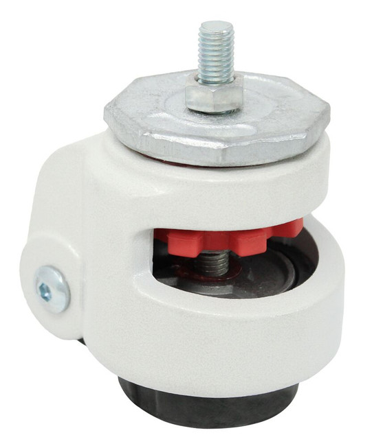 2.86'' x 1.25'' leveling caster w/ M12 threaded hollow king pin 2200lbs cap