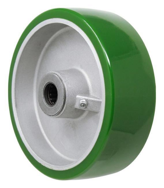 6x2 polyurethane on aluminum core w/ 3/4'' roller bearing
