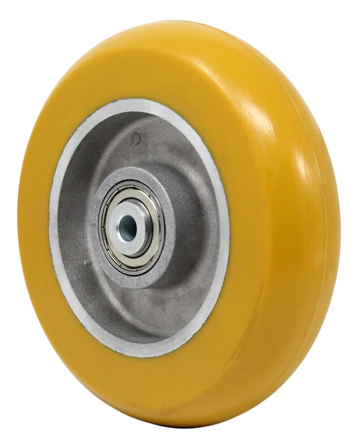8x2 super elastomer wheeel on aluminum core with precision ball bearings