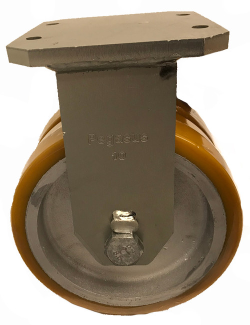 10 X 3 HEAVY DUTY  DUAL WHEEL RIGID CASTER- 6000LBS CAPACITY - P30R-UY100K-20