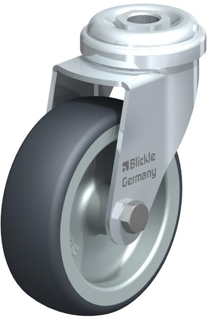 "Blickle Swivel Caster 5"" with Hollow Rivet [LRA-TPA 75G]"