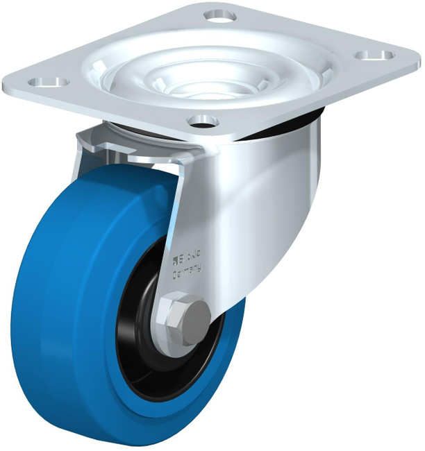 """3"""" BLICKLE BLUE SWIVEL CASTER - MADE IN GERMANY - LE-POEV 80R-SB"""
