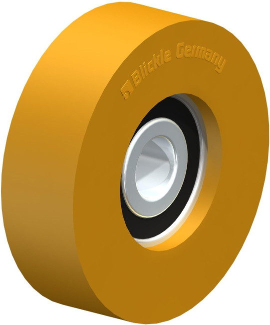 "2"" BLICKLE EXTRATHANE POLYURETHANE WHEEL - MADE IN GERMANY - FTH 50x15/10-9K"