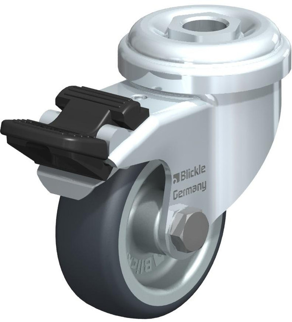 "2"" BLICKLE LOCKING SWIVEL CASTER - MADE IN GERMANY - LRA-TPA 50G-FI"