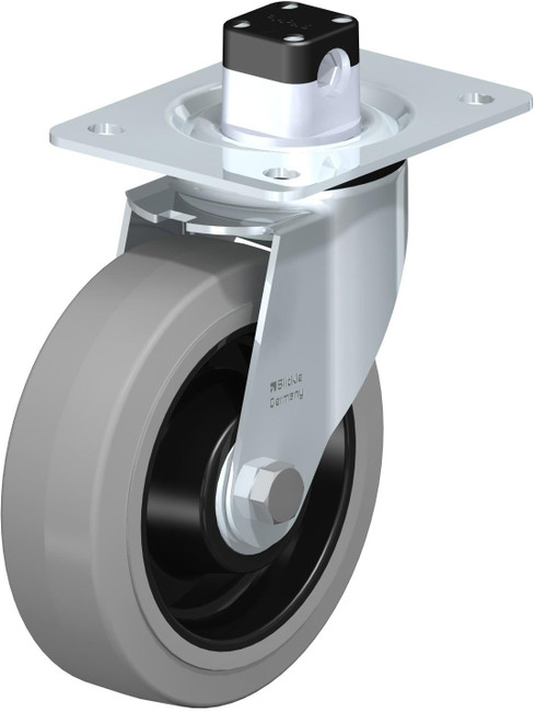 "6"" BLICKLE SWIVEL CENTRAL LOCKING CASTER - MADE IN GERMANY - LE-POEV 160K-CS11-SG"