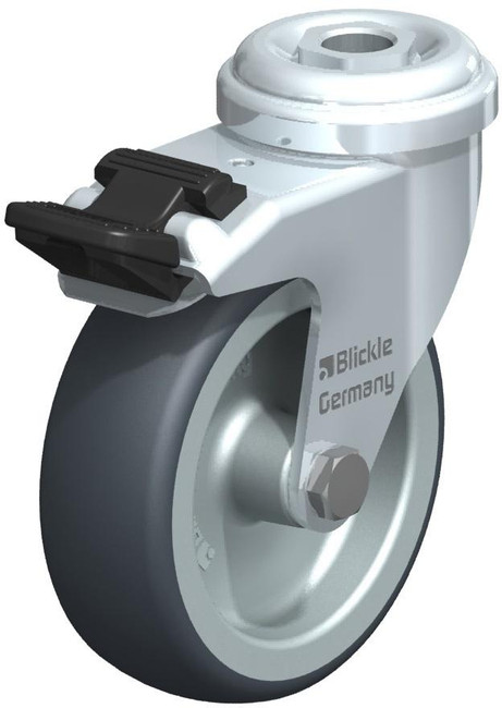 "3"" BLICKLE LOCKING SWIVEL CASTER - MADE IN GERMANY - LRA-TPA 75G-FI"