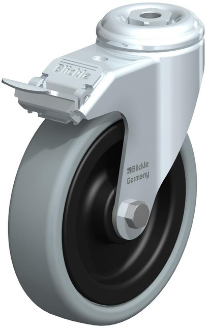 "Blickle Thermoplastic Rubber (TPR) Swivel Caster 5"" [LKRA-VPA 126K-11-FI]"