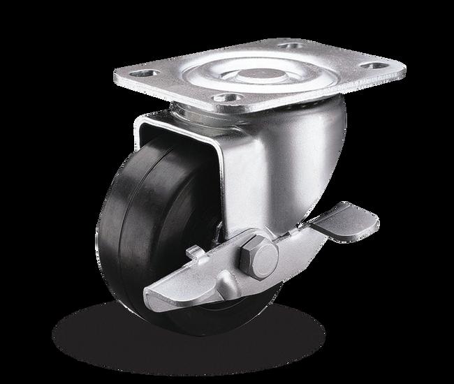 "Colson Lo-Pro Side Lock Swivel Caster 3"" (210  LBS Cap) - 2.03689.54 BRK3"
