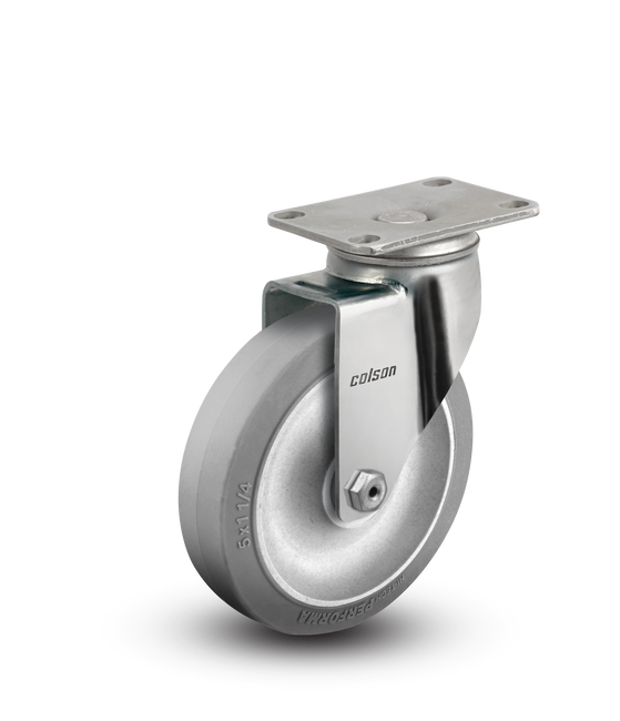 "Colson Stainless Steel Performa Swivel Caster 5"" (325LBS Cap) - 2.05456.444"