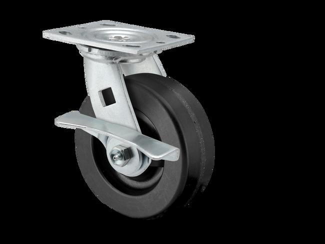 "Pemco E-Line Cam Brake PHENOLIC Swivel Caster 8"" (1250 LBS Cap) - ES8X2PHNCAMS"