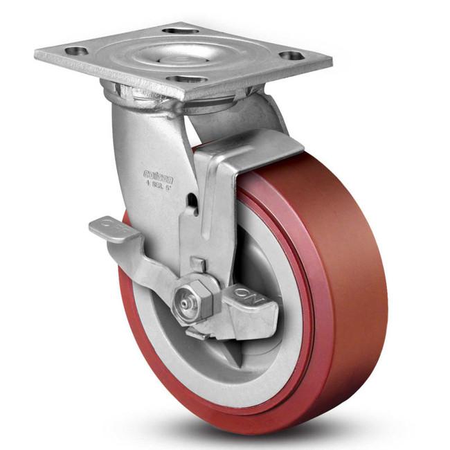 "Colson Polyurethane Heavy Duty Top Lock Swivel Caster 6"" x 2"" (900 LBS Cap)"