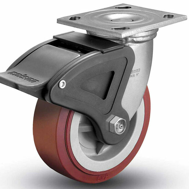 "Colson Polyurethane Total Lock Swivel Caster 5"" (750 LBS. Cap)"