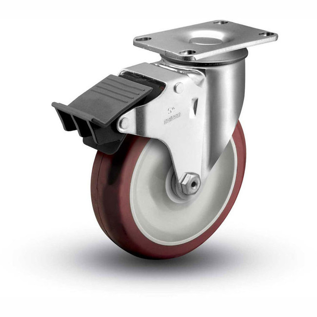 "Colson Ecopoly Total Lock Swivel Caster 5"" (300 LBS Cap)"