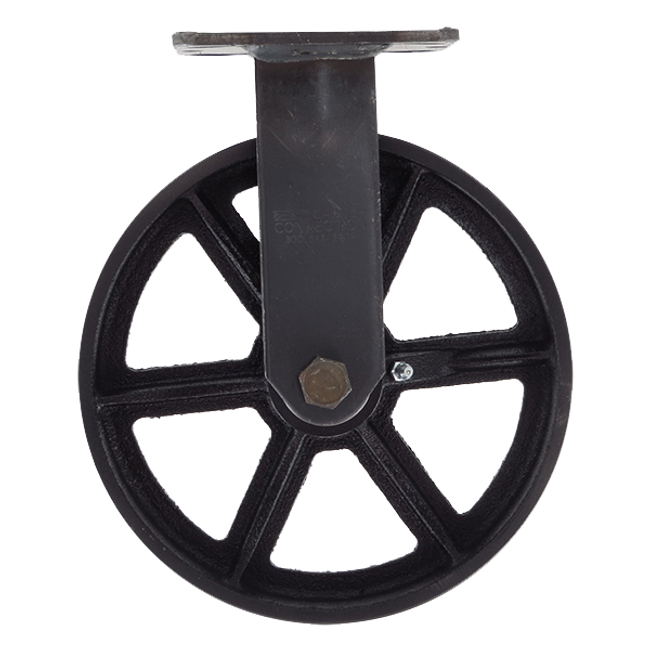 "8"" CC Vintage Black Cast Iron Rigid Caster"