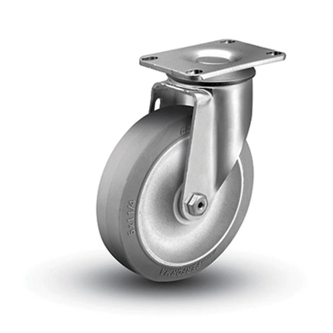 "Colson Ecoforma Swivel Caster 3-1/2"" Grey Rubber (250 LBS Cap) 2.03756.485"