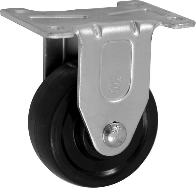 "Trio Pines 5030 Series Hard Rubber Tread Rigid Caster 3"" (Black)"