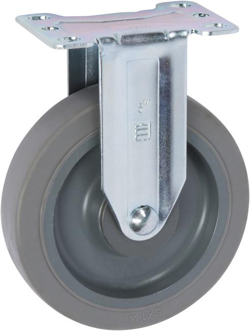 """Trio Pines 5050 Series Thermoplastic Rubber Tread Rigid Caster 5"""" (Gray)"""