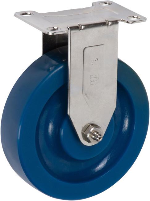 "Trio Pines 5150 Stainless Steel Series Polyurethane Tread Rigid Caster 5"" (Blue)"
