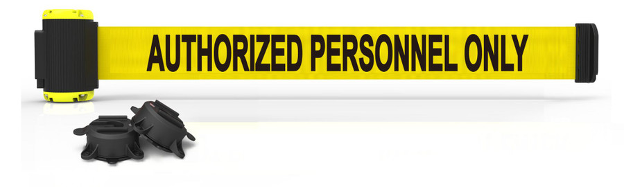 "7' Magnetic Wall Mount - Yellow ""Authorized Personnel Only"" Banner"