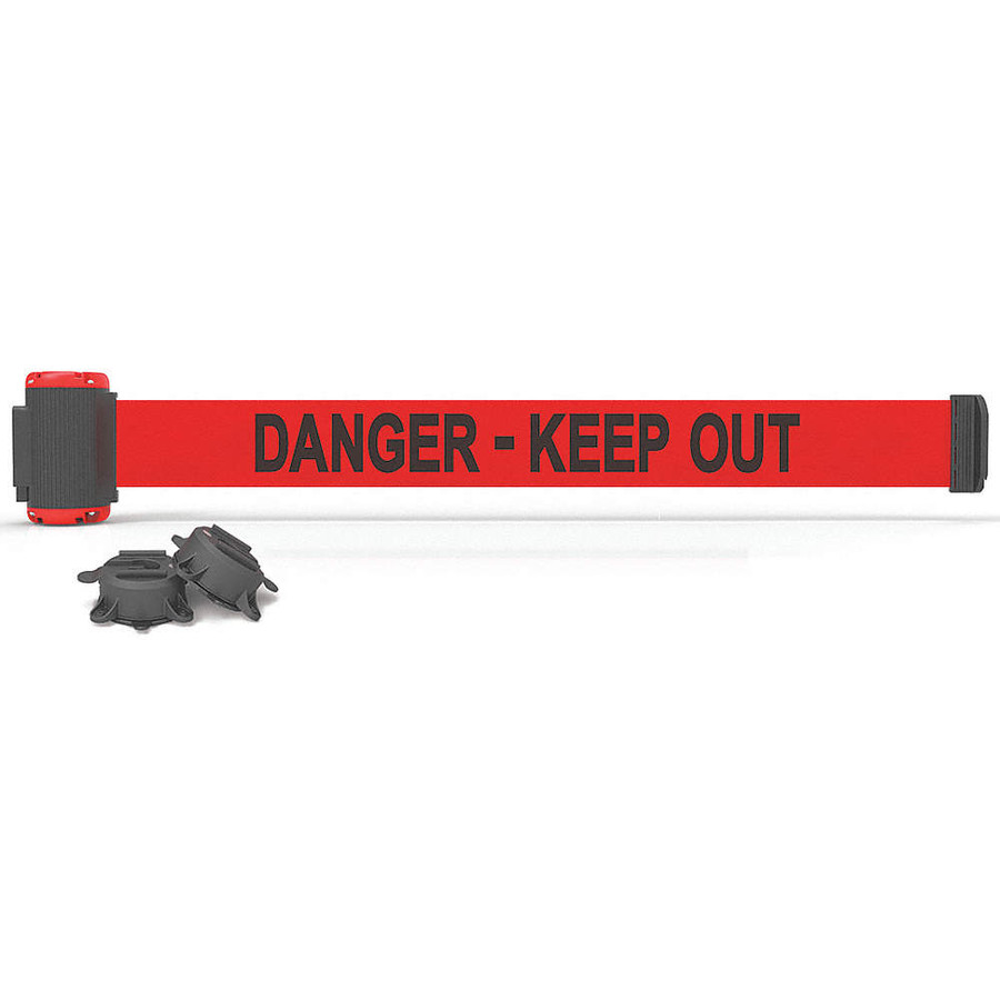 """7' Magnetic Wall Mount - Red """"Danger-Keep Out"""" Banner"""