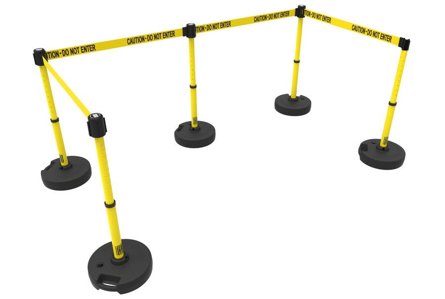 """PLUS Barrier Set X5, """"Caution-Do Not Enter"""""""