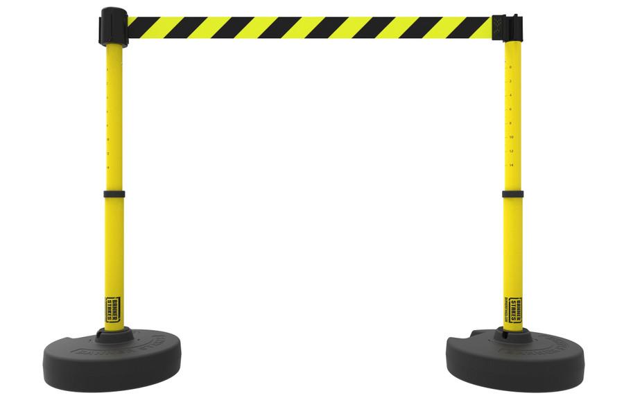 PLUS Barrier Set X2, Yellow/Black Diagonal Stripe