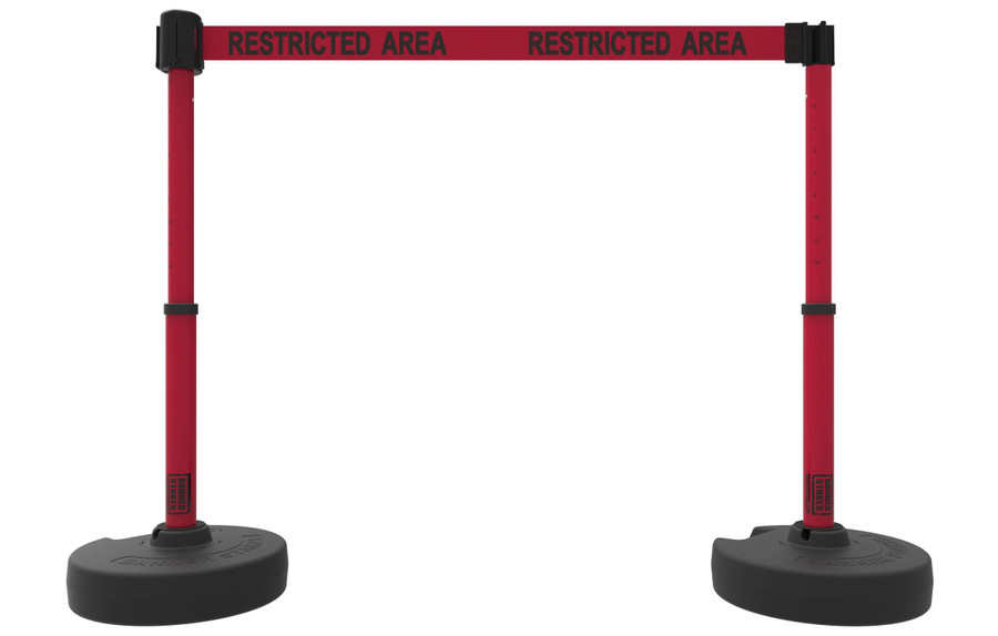 """Banner Stakes PLUS Barrier Set x2 - """"Restricted Area"""""""