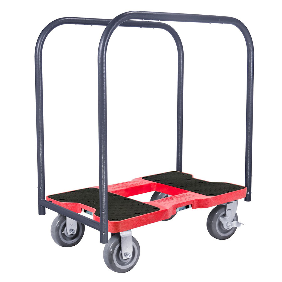 SNAP-LOC 1800 LB SUPER-DUTY PROFESSIONAL E-TRACK PANEL CART DOLLY RED