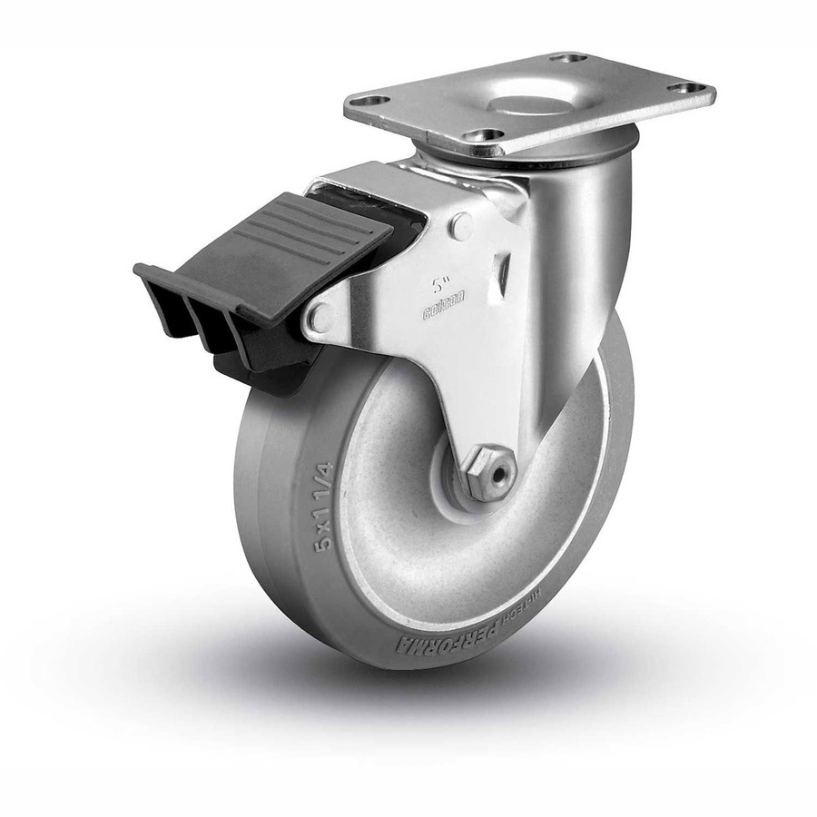 3-1/2''  TPR SWIVEL CASTER  W TOTAL LOCK BRAKE (250 LBS. Cap)