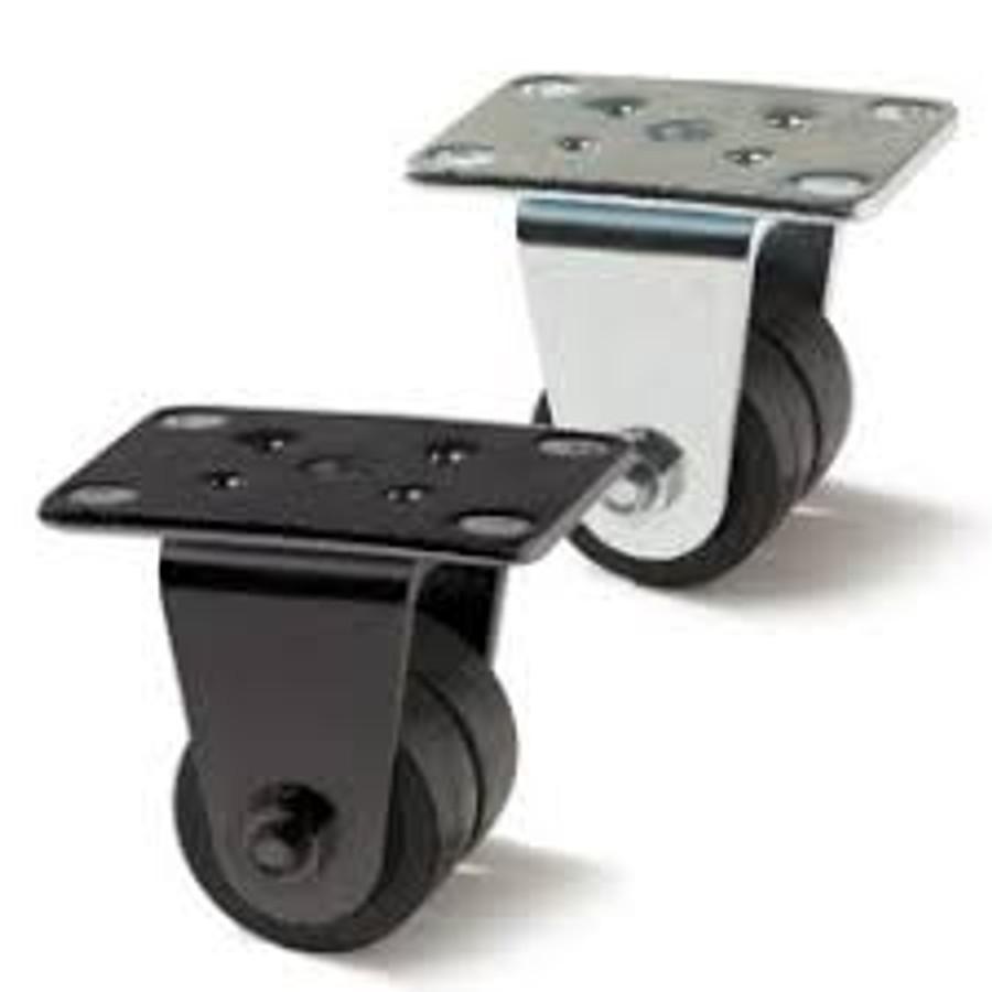 Darnell-Rose Neoprene Rubber Rigid Dual Wheel Caster - 32-1/2-20-XRAE