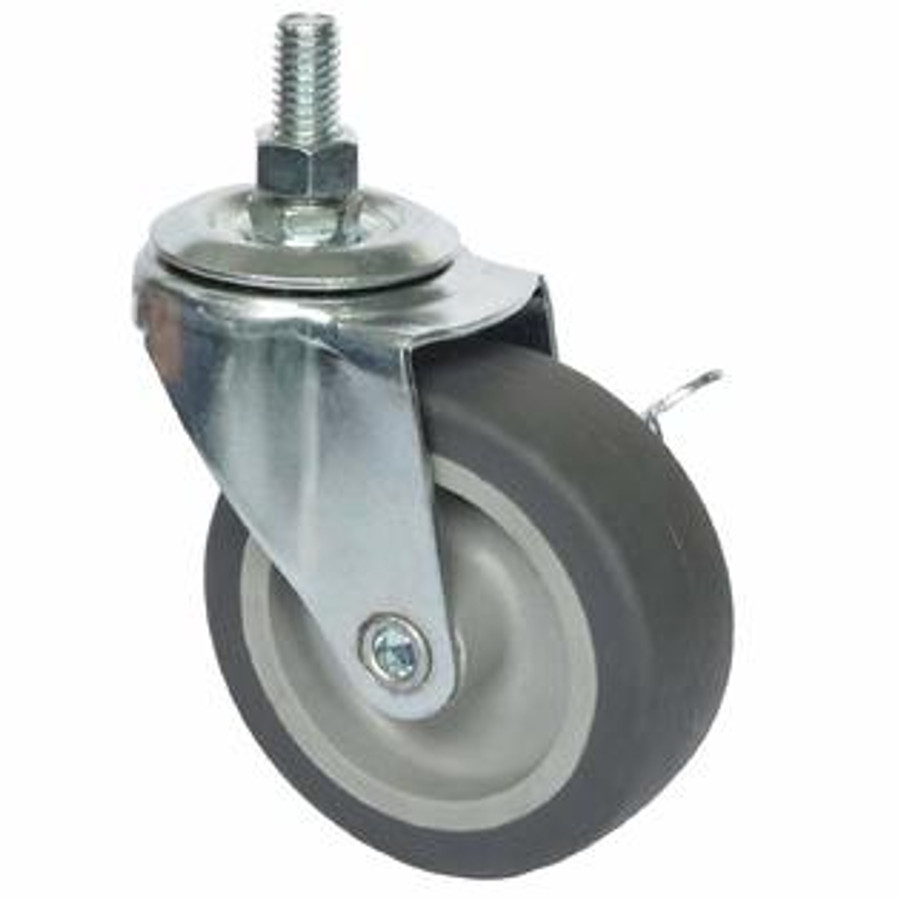 """LINCO Light Duty Thermoplastic Rubber (TPR) Swivel Caster with Threaded Stem 3"""" (100 LBS Cap)"""