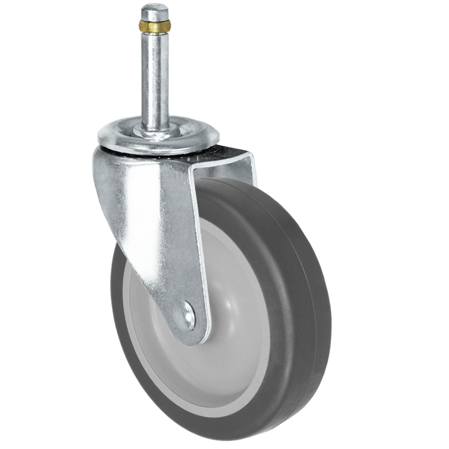 """LINCO Light Duty Thermoplastic Rubber (TPR) Swivel Caster with Grip Ring Stem 3"""" (100 LBS Cap)"""