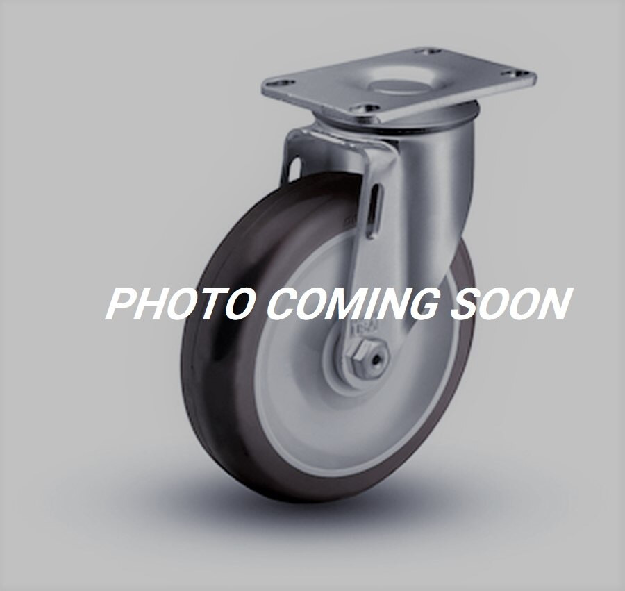 "LIGHT DUTY 3"" TPR SWIVEL W TOP PLATE & BRAKE"