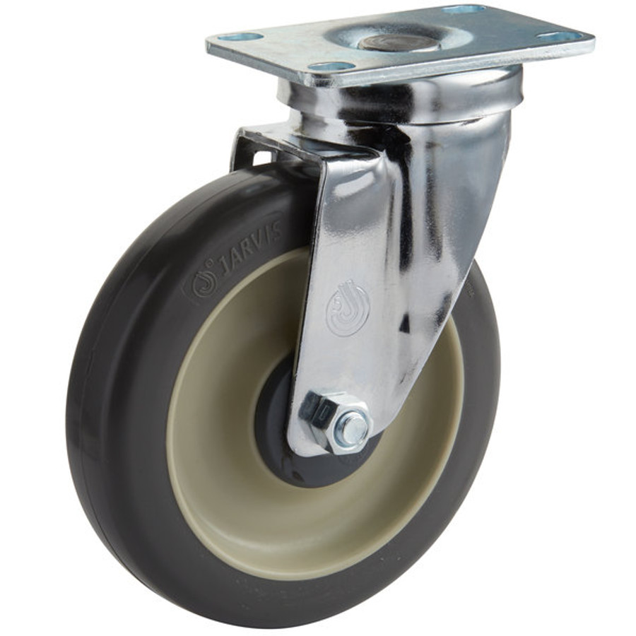 """5"""" CHROME SWIVEL CASTER  - NSF LISTED FOR FOODSERVICE - JARVIS"""
