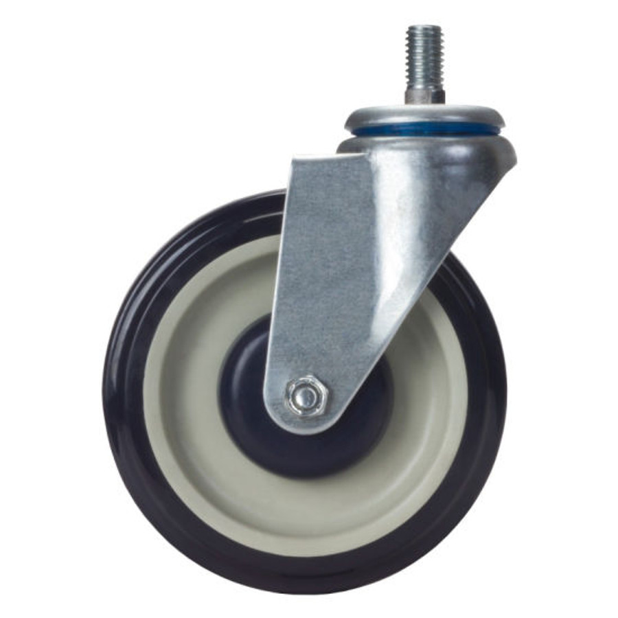 """LINCO Shopping Cart Caster with Threaded Stem 5"""" (325 LBS Cap)"""