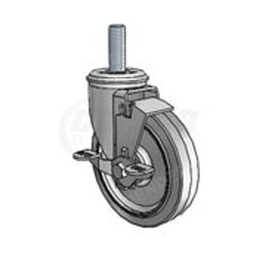 Colson 2 Series Threaded Stem Locking Caster 3-1/2 - 2.03254.445 MTG53 BRK1