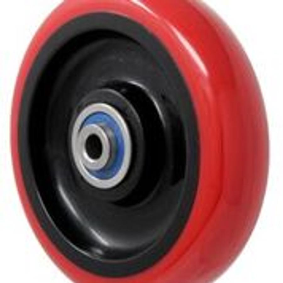 "LINCO Polyurethane on Polyurethane Wheel with 3/8"" Ball Bearings 5"" x 1.25"""