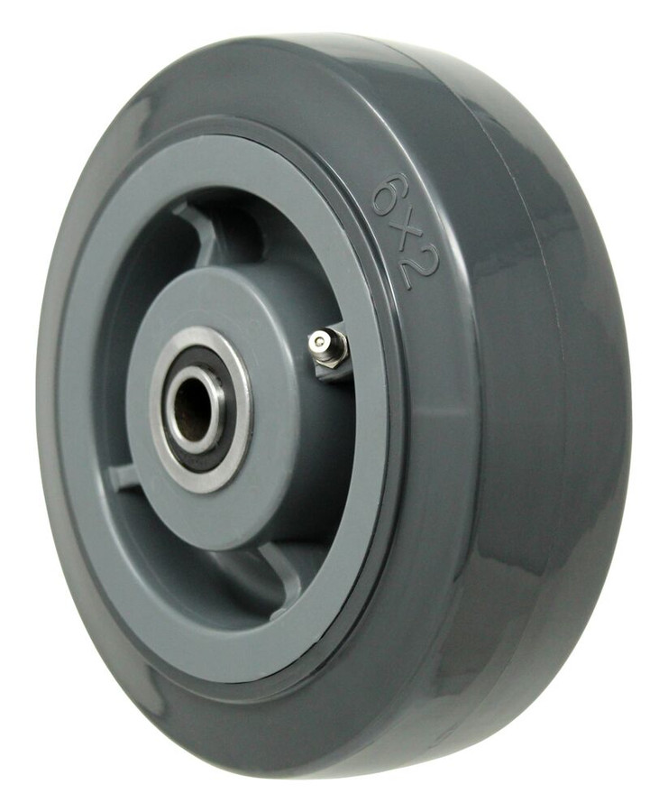 """LINCO High Performance Polyurethane on Polyolefin with Flanged Percision Bearing 6"""" x 2"""""""