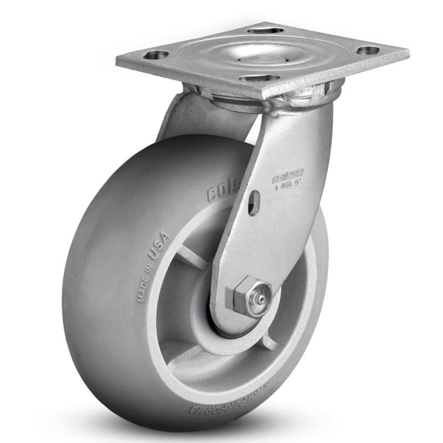 "Colson 8"" Performa Round Swivel Top Plate Caster  (600 LBS Cap) 4.08169.555"