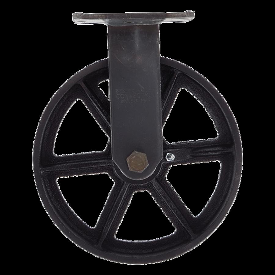 """8"""" CC Vintage Black Cast Iron Rigid Caster"""