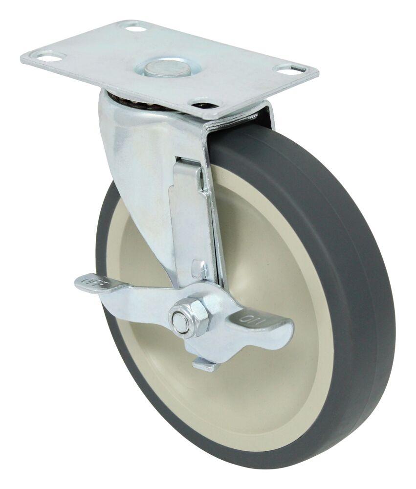 1-5//8 Caster w// 3//8 x 1 Stem /& Rubber Wheel