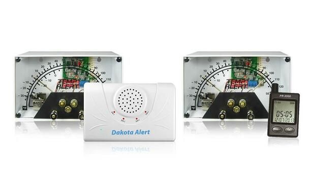 Wireless Temperature Alert System with Chime Receiver Base
