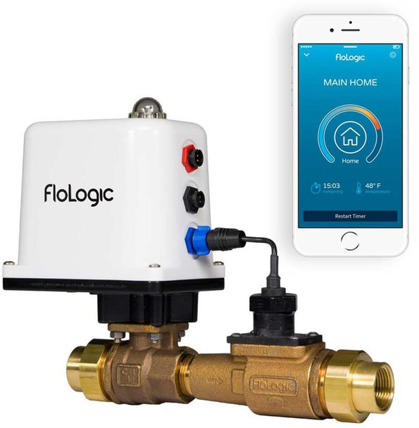 FLoLogic FLS0035-1-PLUS Water Shut Off System with 1 Valve and Connect WiFi