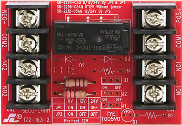 Seco-Larm Relay Board 12/24 Volt DPDT 5 Amp - SR-2212-C5AQ