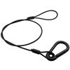 """Safety Cable, 30"""" with 5/16 Hook, Black"""